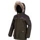 Regatta Paxton Waterproof Jacket Kids Dark Khaki/Dust